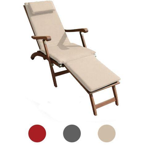 Trueshopping 3 Section Blue Cushion for Steamer Sun Lounger