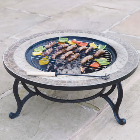 "Trueshopping ""Beacon Star"" combined Coffee Table, Fire Pit & BBQ"