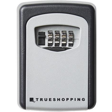 Trueshopping Caja de Seguridad con Combinación para Llaves Empotrada de Aluminio