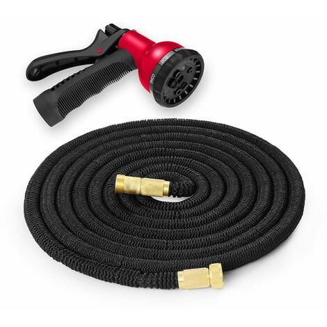 Trueshopping Expandable Flexible Garden Hose Pipe with Brass Fittings