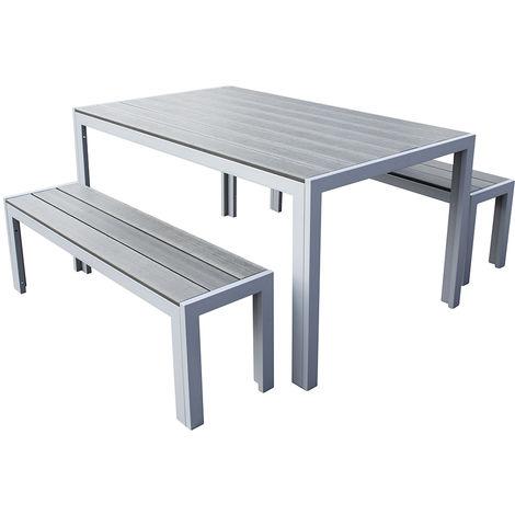 Trueshopping malm 3 pezzi polywood di mobili da giardino for Poli arredamenti