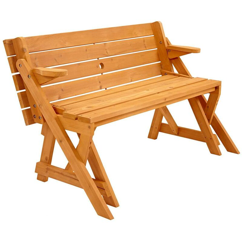 Trueping Modbury Two In One Convertible Garden Bench And Picnic Table