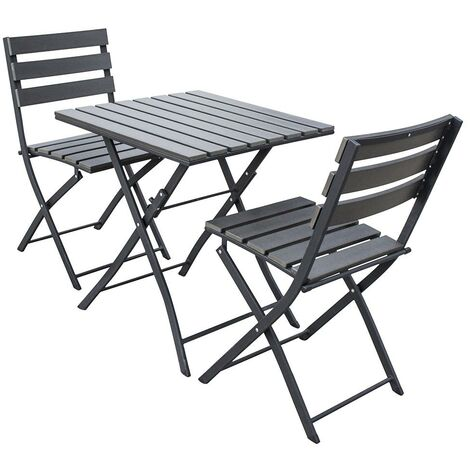 Trueping Soelback Garden Table Chair Bistro Set 3 Piece Polywood Top And Aluminium Frame Outdoor Furniture In Dark Grey P 453939 8651723 1 Jpg