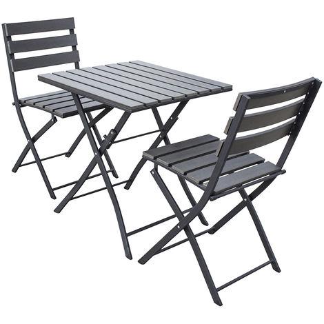 Trueshopping Sölback Gartentisch Und Stuhl Bistro Set 3 Teiliges