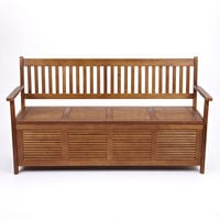 "Trueshopping Three Seat ""Sunart"" Garden or Hallway Storage Bench"