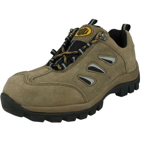 Truka Mens Steel Toe Cap Safety Boots (8 UK) (Khaki Leather)
