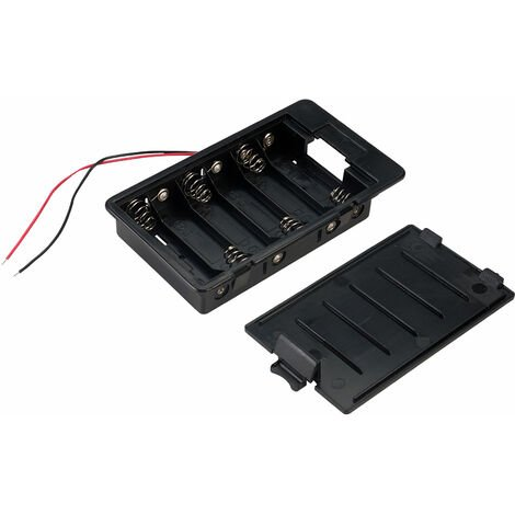 TruPower SBH361A Panel Mount Battery Box 6 x AA