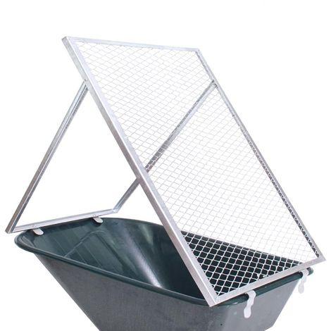 Trutzholm® Schubkarren Durchwurfsieb Gartensieb 100x60cm Sieb Kompost Gitter Durchwurfgitter Erdsieb