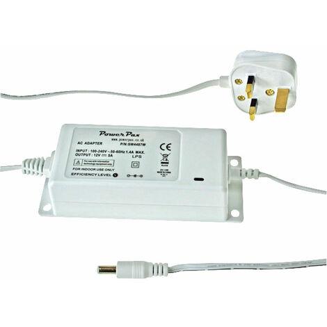 TT Electronics SW4487W 12V DC 5A Installation PSU UK Plug in White Case