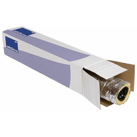 Tube aération flexible isolé Compact, en plastique 12 m en carton, d80 mm