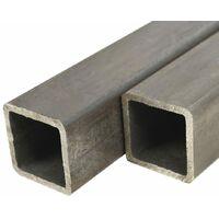 Tube carré Acier de construction 2 pcs 1 m 50x50x2 mm