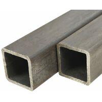 Tube carré Acier de construction 2 pcs 1 m 80x80x2 mm