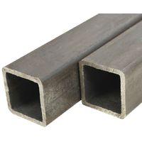 Tube carre Acier de construction 2 pcs 2 m 50x50x2 mm