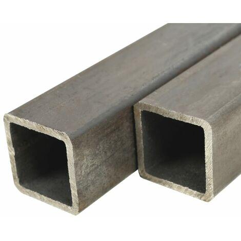Tube carré Acier de construction 2 pcs 2 m 80x80x2 mm