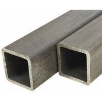 Tube carré Acier de construction 4 pcs 1 m 40x40x2 mm