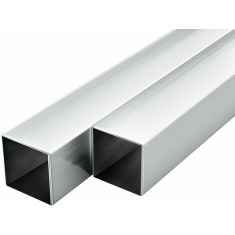 Tube carré Aluminium 6 pcs 2 m 20x20x2 mm