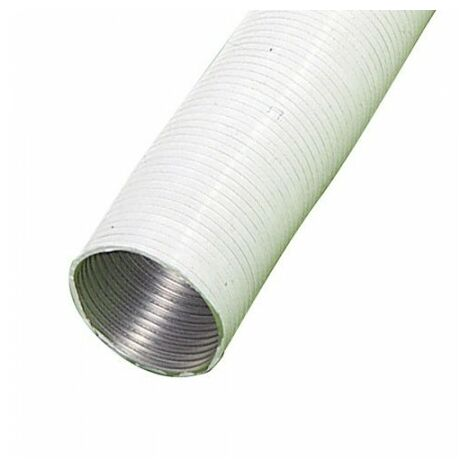 Tube compact en aluminium blanc Ø 125 mm./ 5 mètres