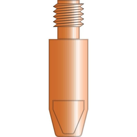 Tube contact M6 1,2 mm - 28mm E-Cu (Par 20)