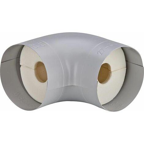"""Tube coude isolant S 90° Mousse PU (100%) plage 1"""" 35 mm, épaisseur 30 mm"""