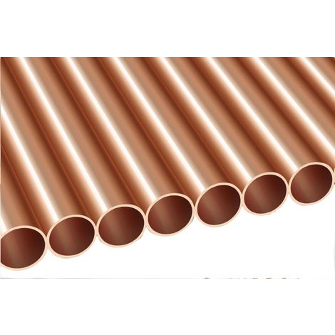 Tube Cuivre écroui Demi Dur Diamètre 14mm épaisseur 1mm Barre De 3m