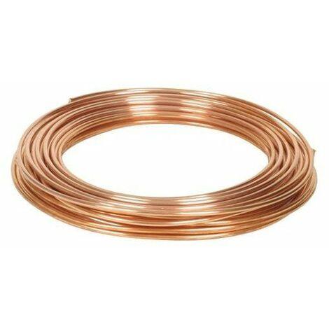 Tube cuivre recuit pour chauffage et eau chaude sanitaire 12/14 couronne de 50m