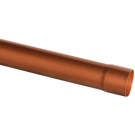 Tube de descente gouttière 25 - Ø80 aspect cuivre 3m