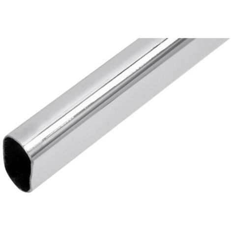 Tube de penderie ovale 30 x 15 acier chromé longueur 3m épaisseur 0,7 mm
