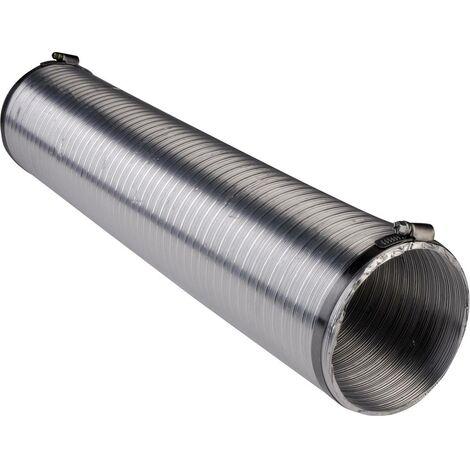 Tube de ventilation flexible Wallair N51803 (Ø x L) 8 cm x 2.5 m aluminium argent