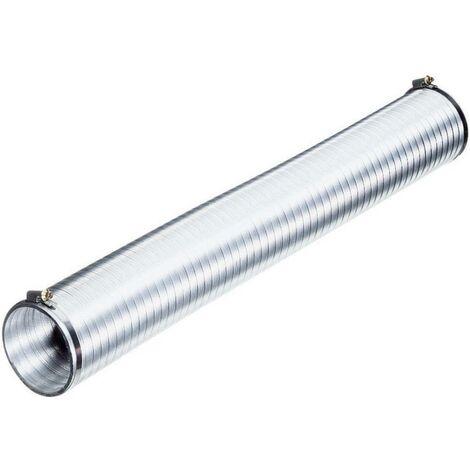 Tube de ventilation flexible Wallair N51808 (Ø x L) 10 cm x 2.5 m aluminium argent