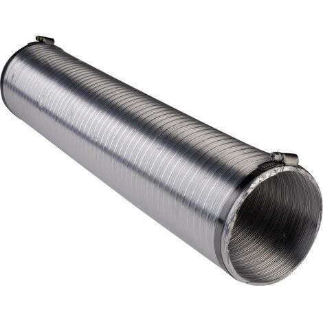 Tube de ventilation flexible Wallair N51824 (Ø x L) 12.5 cm x 2.5 m aluminium argent