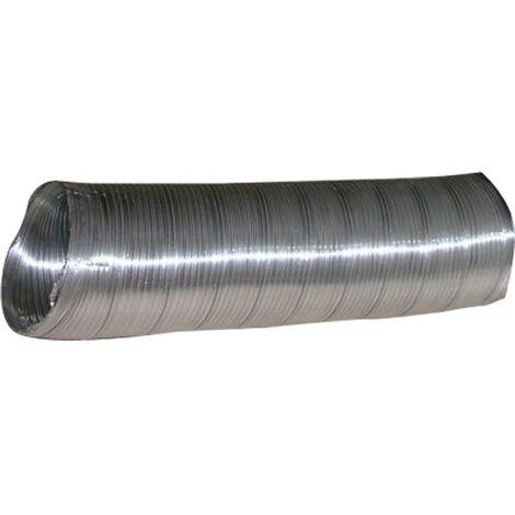 Tube d'extraction d'air compact 100Mmx1Mt Aluminium Blanc Alu Espir Espiroflex 1 Mt 0219110060