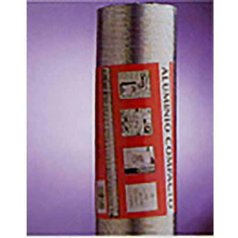 Tube d'extraction d'air compact 120Mmx1Mt Aluminium Blanc Alu Espir Espiroflex 1 Mt 02331120315