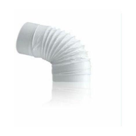 TUBE D'EXTRACTION EN PVC DROIT COUDE FLEXIBLE 110X55MM.