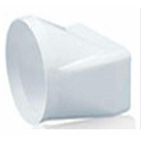 TUBE D'EXTRACTION EN PVC FENDU MIXTE 150X75-Ø120MM.