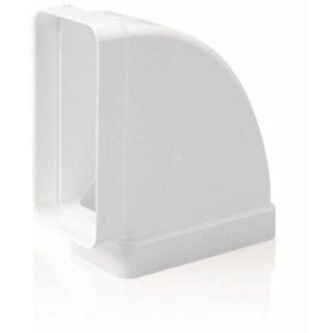 TUBE D'EXTRACTION PVC COUDE DROIT HORIZONTAL 90º 150X75MM