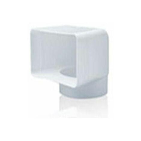 TUBE D'EXTRACTION PVC COUDE VERTICAL 90º 150X75-Ø120