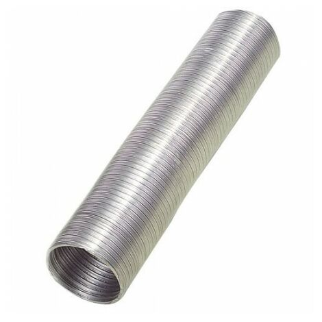 Tube en aluminium compact gris Ø 100 mm. / 5 mètres