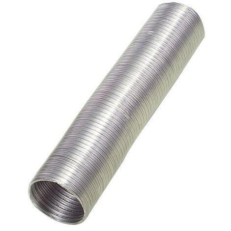 Tube en aluminium compact gris Ø 200 mm./ 5 mètres