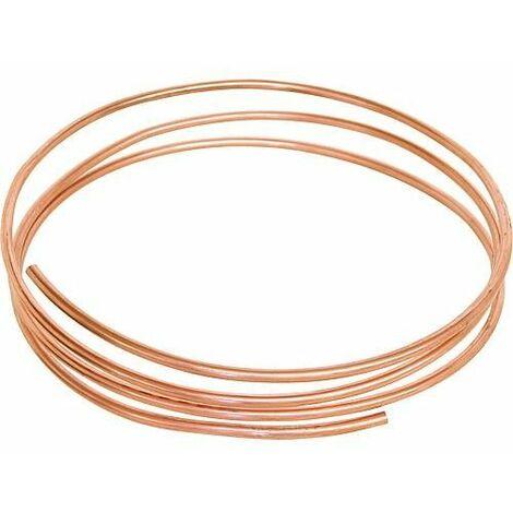 Tube en cuivre souple en anneaux diametre 5 mm vendu au metre