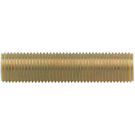 lot de 12 tubes filetés en acier longueur 15 mm pas 10 mm par 1 mm