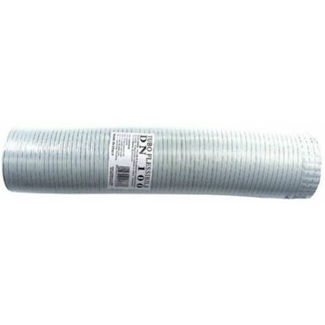 Tube flexible extensible aluminium blanc 200 mm de 1 à 3 mt.