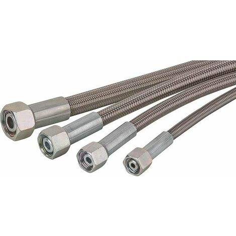 Tube hydraulique PTFE gainé inox, Serie 18L Longueur 1500 mm