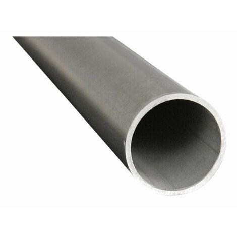 Tube inox brossé Ø42,4 3M - Inox 316