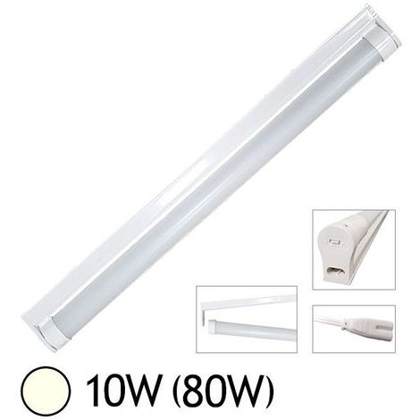 """main image of """"Tube LED 10W (80W) T8 600 mm Blanc jour 4000°K dépoli + support chainable"""""""