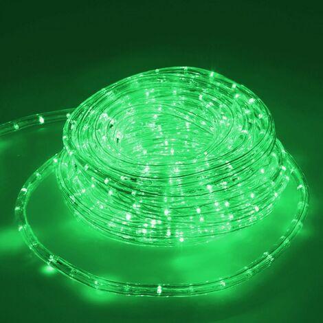 Tube lumineux LED Luminaires tube intérieur Chaine 20m vert clair IP44