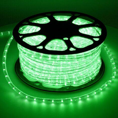 Tube lumineux LED Luminaires tube intérieur Chaine lumière verte 30m IP44