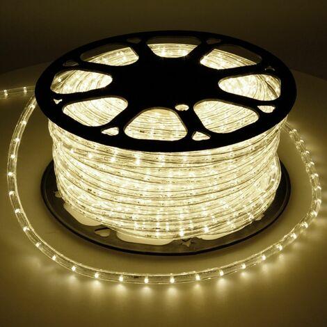 "main image of ""Tube lumineux LED Luminaires tubulaires chaîne du chaud du tube lumière blanche 50m IP44"""