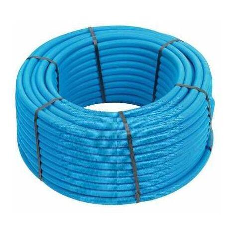 Tube multicouche gainé - Longeur 50 m - Bleu - Diamètre 26 mm - Sélection Cazabox