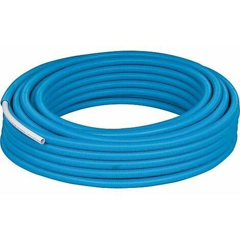 Tube multicouche PE-RT gaine bleu 16 x 2 mm Rouleau de 50 metres