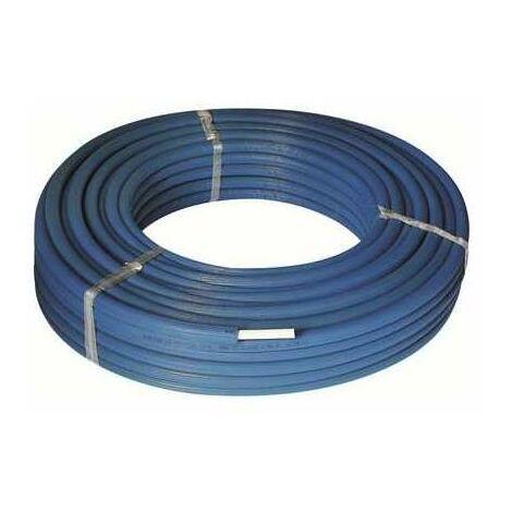 Tube multicouche pré-isolé RIXc - Couleur bleu - Diamètre 26 mm - Epaisseur 3 mm - Longueur 50 m - Henco
